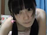 微乳の可愛い黒髪美少女の自画撮りオナニー