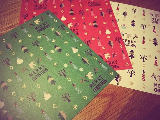 クリスマス柄折り紙