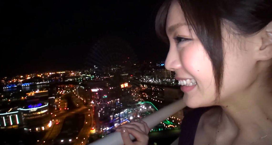 夜景を見て喜ぶ