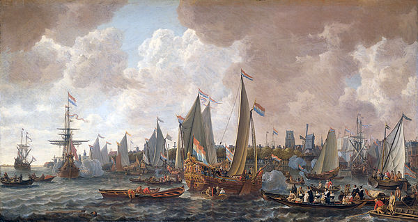 600px-The_arrival_of_King_Charles_II_of_England_in_Rotterdam,_may_24_1660_(Lieve_Pietersz._Verschuier,_1665)