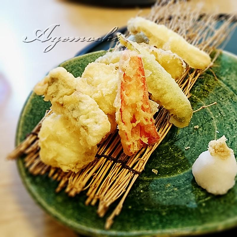 ハモと野菜の天ぷら