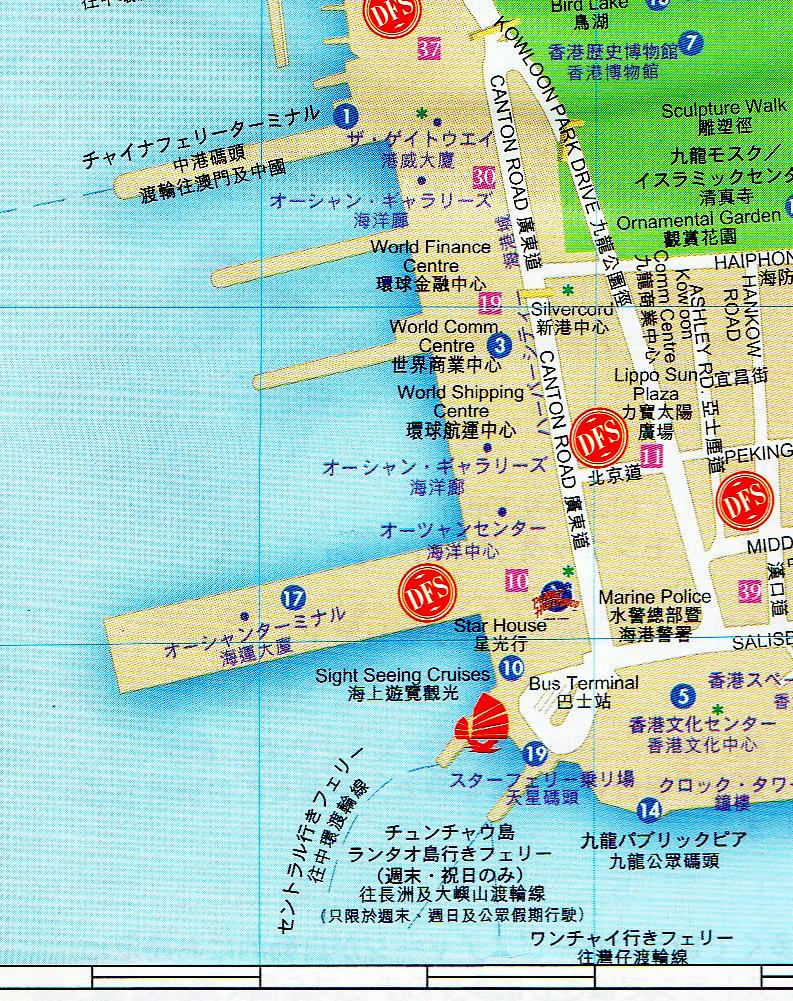 香港・九龍半島地図-1