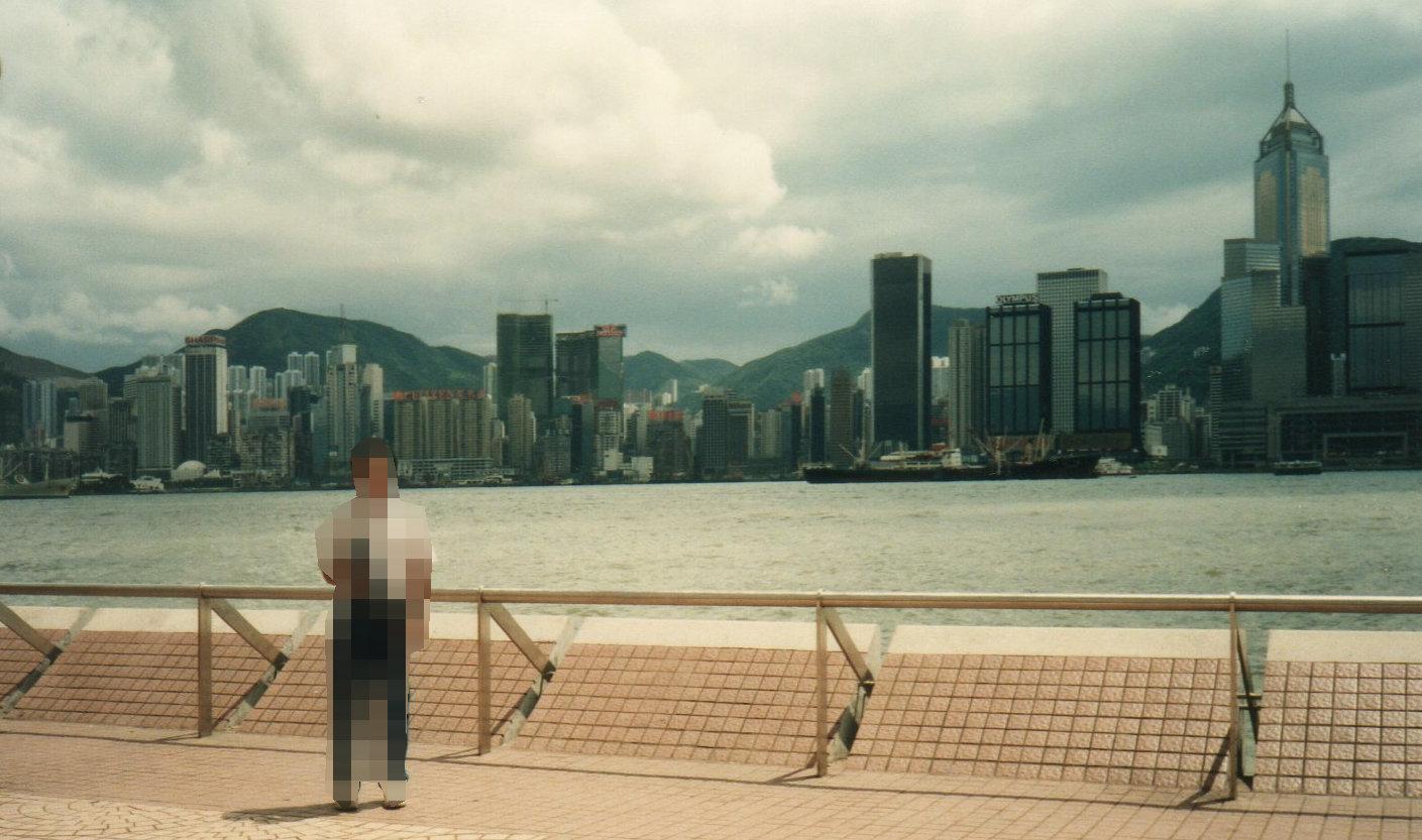 5回目の香港(1992年9月)尖沙咀から香港島を望むー1