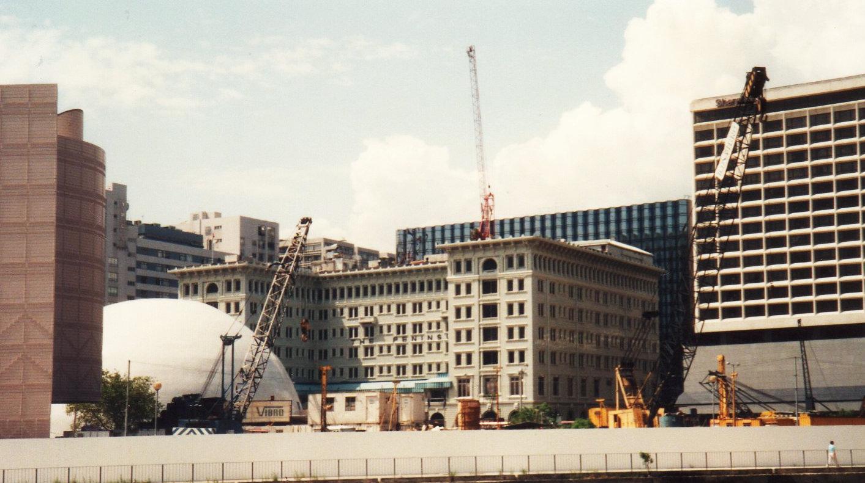 5度目の香港(1992年9月)改修工事中のペニンスラホテルー1