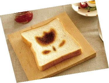 食パンにお絵描き① (2)おえかき-1