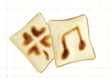 食パンにお絵描き②-1