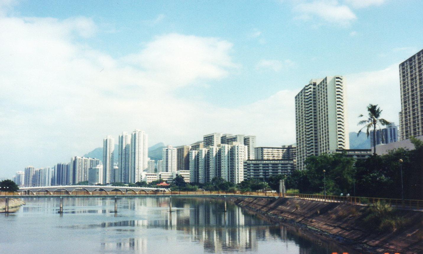 香港・6度目(1993年8月⑥(沙田11月)-2瀝源橋と城門河