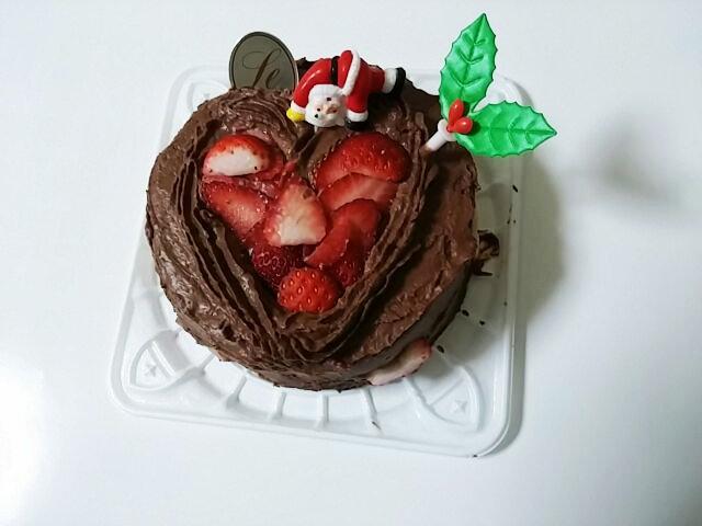 孫が造ったクリスマスケーキ①-1