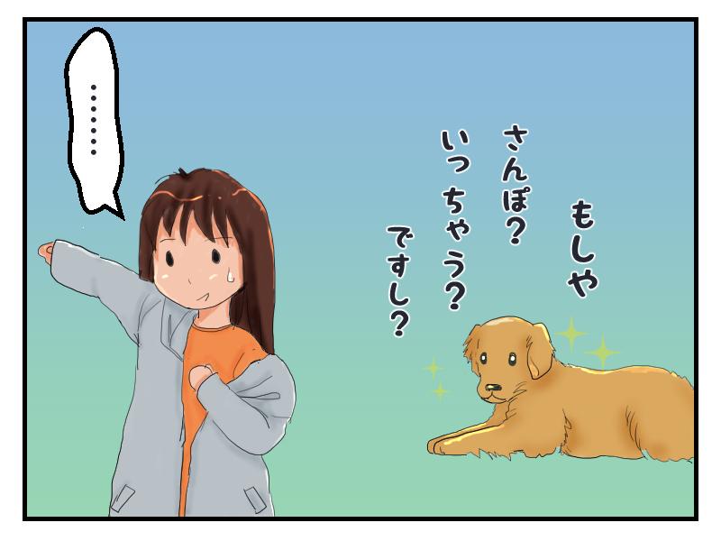 散歩かと思った犬に、余計な期待をさせてしまって気まずい