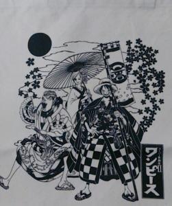 ONEPIECE 麦わらストア東京ワンピースタワー限定スーパー歌舞伎Ⅱ ワンピーストートバッグ