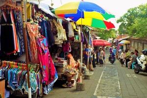 ウブド市場の商店の画像