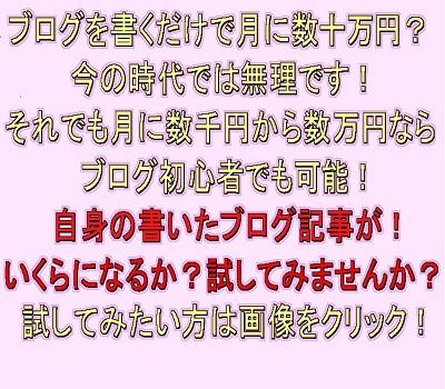 ブログを書くだけで月に数十万円?