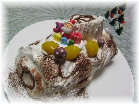 151117 20015クリスマスケーキ(ビシュ・ド・ノエル・ジャポネーズ)