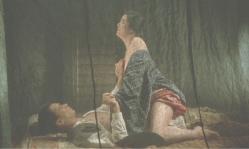 蚊帳の中でミヨコと初体験する継男