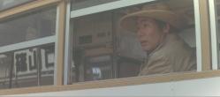 丹波、篠山に到着しバスに乗る金田一