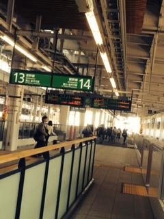 上越新幹線ホーム
