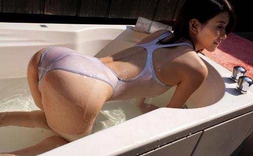 芦名ユリア 濡れ透け競泳水着 35
