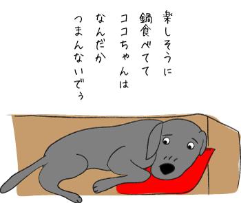 ふて寝する犬