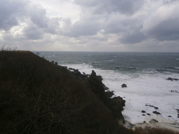 嵐の海に3