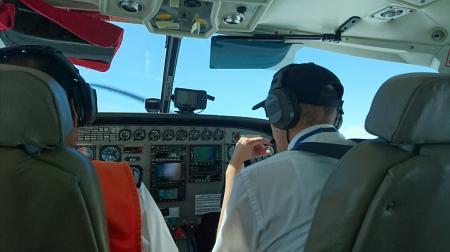 セスナ機の機内