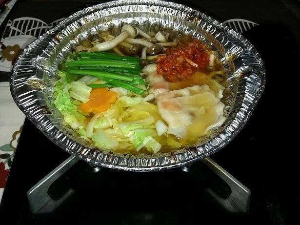 キムチ鍋完成