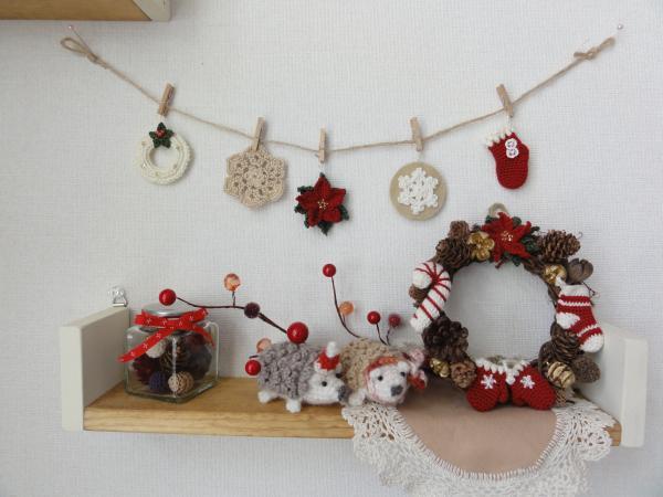 クリスマスガーランド_ポインセチア3