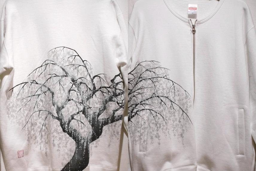 桜 手描きジャケット