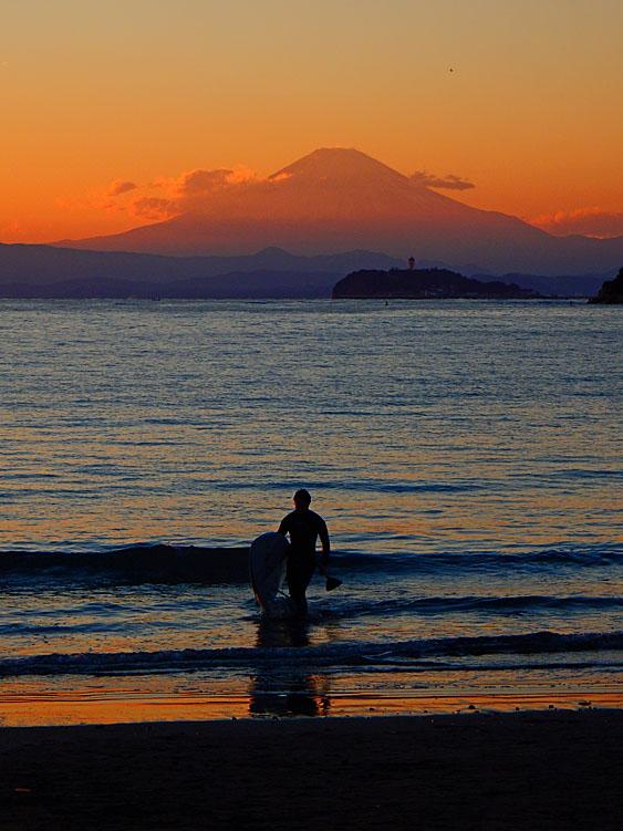 151128パドボと富士山@逗子海岸4