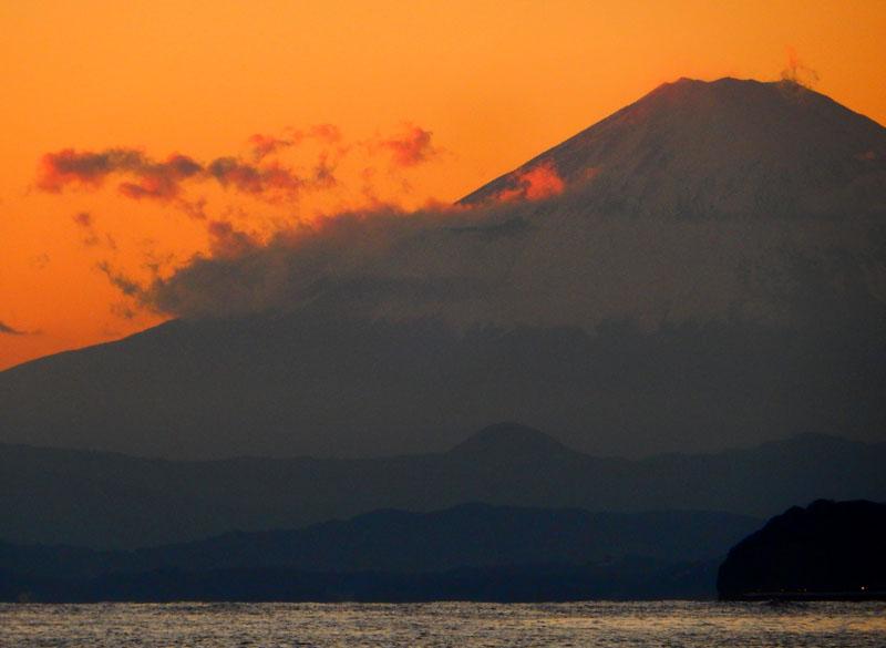 151128パドボと富士山@逗子海岸5
