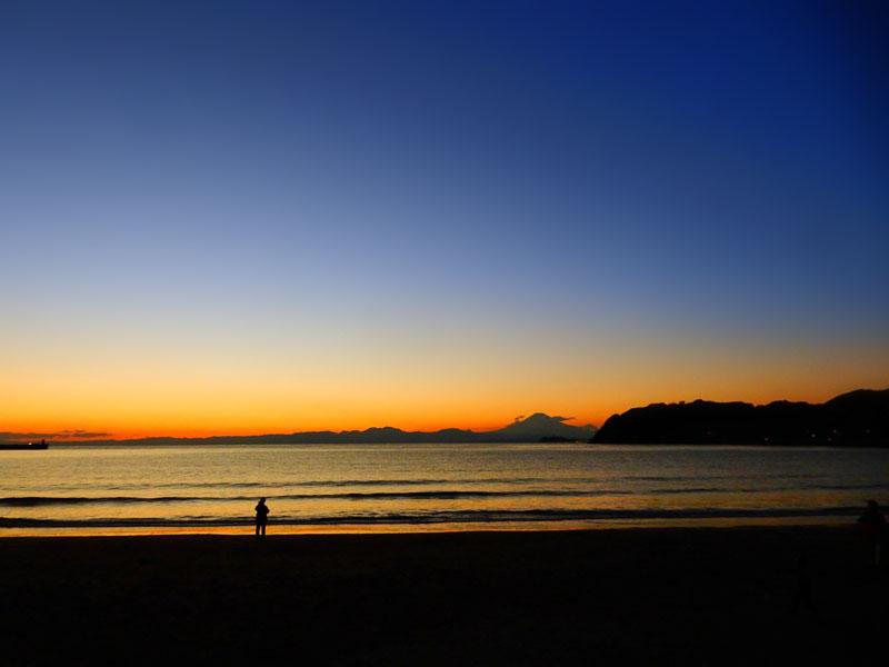 151128パドボと富士山@逗子海岸6
