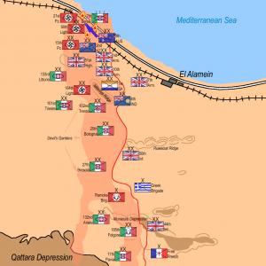 第2次エル・アラメイン会戦配置図