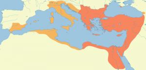 ユスティアヌス時代の版図