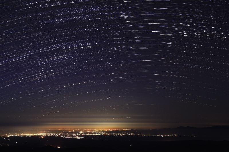 20151017_栗駒山山頂よりカノープス連続a