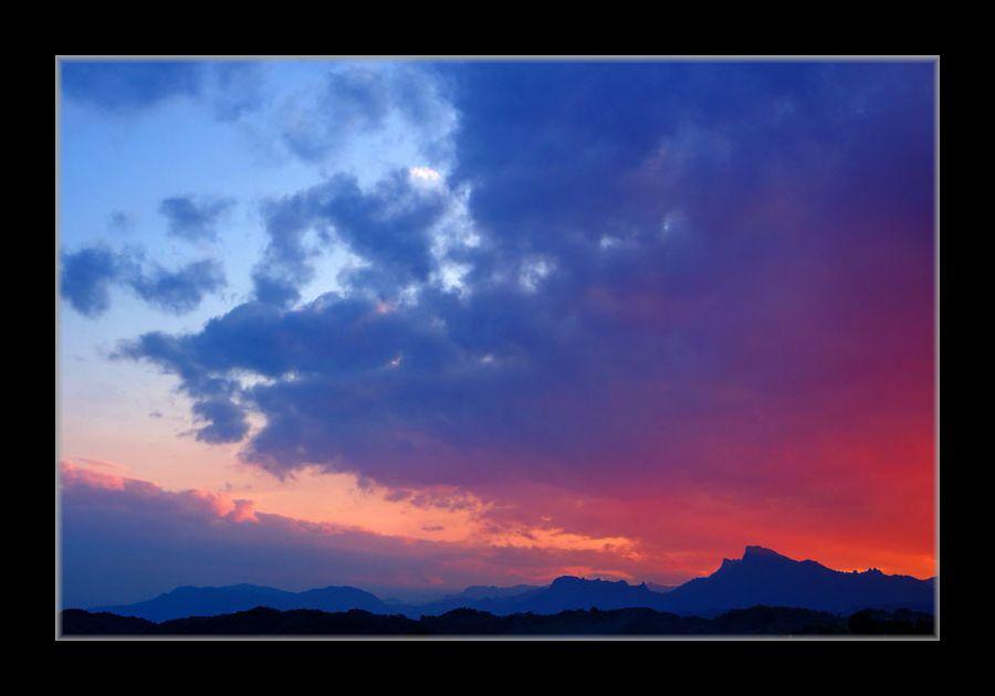 妙義山の夕焼け