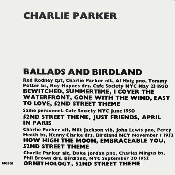 MARK GARDNER(UK) MG101BALLADS AND BIRDLAND