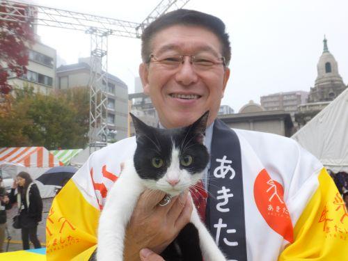 秋田県佐竹知事と猫ジャンヌダルク DSCF9724