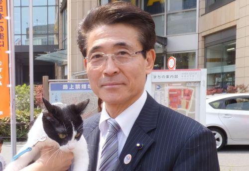 500東京都議会議員 大場やすのぶ先生 犬の飼い主