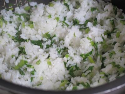 カブの葉の菜飯