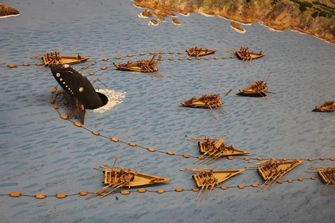 古式捕鯨模型