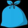 青いごみ袋
