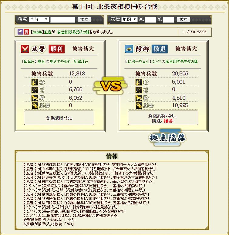 対前田家防衛戦 ミルキーパーティ 攻め4