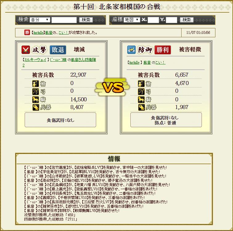 対前田家防衛戦 ミルキーパーティ 受け3