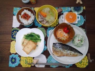 鯖と豚汁定食4