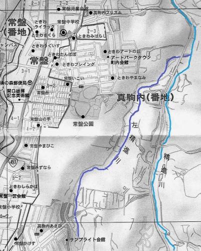 南区地図 左精進川流域