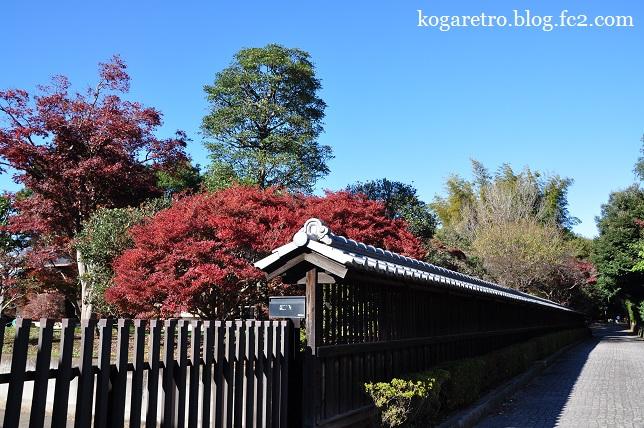 秋の鷹見泉石記念館