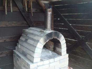郡上古民家の石窯
