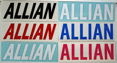 ALLIAN LOGO STICKER