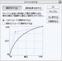 ペンタブ筆圧設定(XP-Pen)