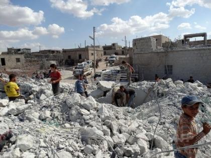 シリア空爆後の様子
