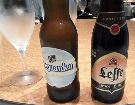 5 銀座アスター 食事 ベルギービール